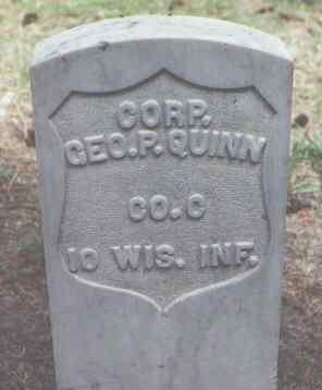 QUINN, GEO. P. - Rio Grande County, Colorado | GEO. P. QUINN - Colorado Gravestone Photos