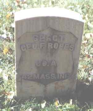 ROPES, GEO. F. - Rio Grande County, Colorado | GEO. F. ROPES - Colorado Gravestone Photos