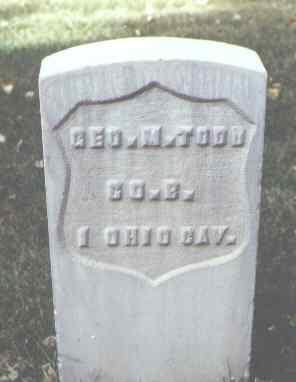 TODD, GEO. M. - Rio Grande County, Colorado | GEO. M. TODD - Colorado Gravestone Photos