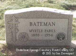 BATEMAN, MYRTLE - Routt County, Colorado | MYRTLE BATEMAN - Colorado Gravestone Photos
