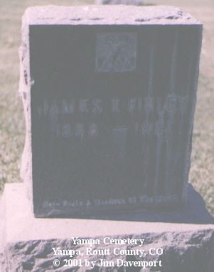FINLEY, JAMES T. - Routt County, Colorado | JAMES T. FINLEY - Colorado Gravestone Photos