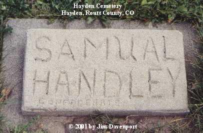 HANDLEY, SAMUAL - Routt County, Colorado | SAMUAL HANDLEY - Colorado Gravestone Photos