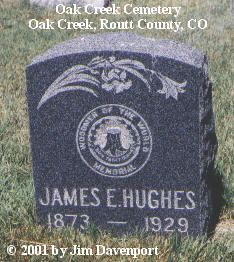 HUGHES, JAMES E. - Routt County, Colorado | JAMES E. HUGHES - Colorado Gravestone Photos