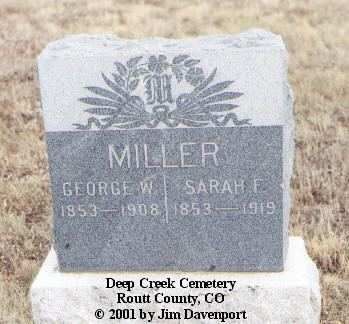 MILLER, GEORGE W. - Routt County, Colorado | GEORGE W. MILLER - Colorado Gravestone Photos