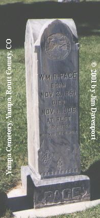 PAGE, WM. R. - Routt County, Colorado | WM. R. PAGE - Colorado Gravestone Photos