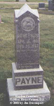 PAYNE, ALFRED - Routt County, Colorado | ALFRED PAYNE - Colorado Gravestone Photos