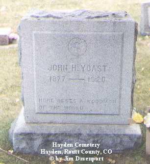 YOAST, JOHN H. - Routt County, Colorado | JOHN H. YOAST - Colorado Gravestone Photos