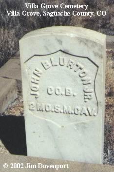 BLURTON, JOHN - Saguache County, Colorado | JOHN BLURTON - Colorado Gravestone Photos