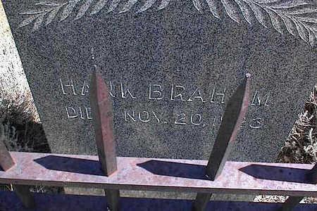 BRAHAM, HANK - Saguache County, Colorado   HANK BRAHAM - Colorado Gravestone Photos
