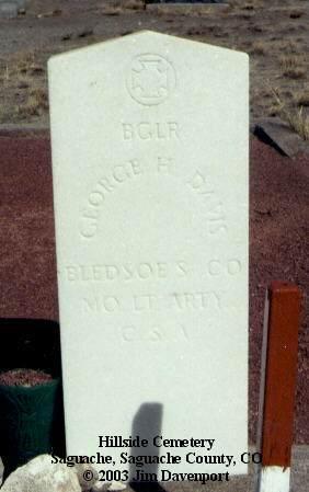 DAVIS, GEORGE H. - Saguache County, Colorado | GEORGE H. DAVIS - Colorado Gravestone Photos