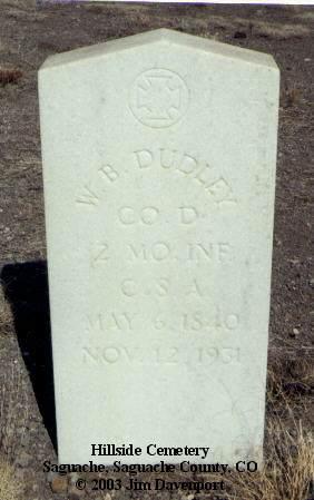 DUDLEY, W. B. - Saguache County, Colorado   W. B. DUDLEY - Colorado Gravestone Photos