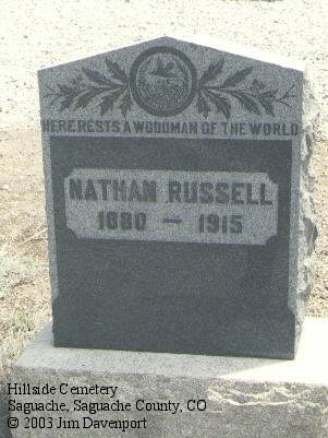 RUSSELL, NATHAN - Saguache County, Colorado   NATHAN RUSSELL - Colorado Gravestone Photos