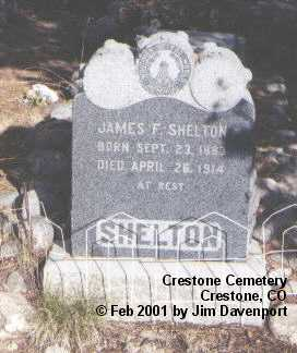 SHELTON, JAMES F. - Saguache County, Colorado | JAMES F. SHELTON - Colorado Gravestone Photos