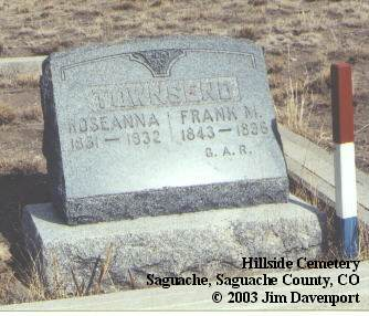 TOWNSEND, FRANK M. - Saguache County, Colorado | FRANK M. TOWNSEND - Colorado Gravestone Photos