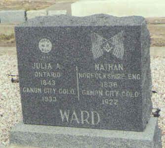 WARD, JULIA A. - Saguache County, Colorado | JULIA A. WARD - Colorado Gravestone Photos