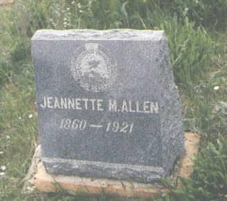 ALLEN, JEANNETTE M. - San Juan County, Colorado | JEANNETTE M. ALLEN - Colorado Gravestone Photos