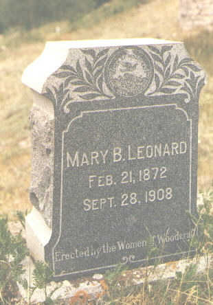 LEONARD, MARY B. - San Juan County, Colorado | MARY B. LEONARD - Colorado Gravestone Photos