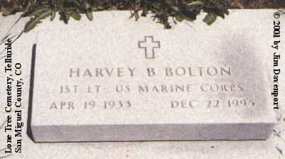 BOLTON, HARVEY B. - San Miguel County, Colorado | HARVEY B. BOLTON - Colorado Gravestone Photos
