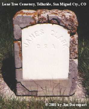 CLARK, JAMES - San Miguel County, Colorado | JAMES CLARK - Colorado Gravestone Photos