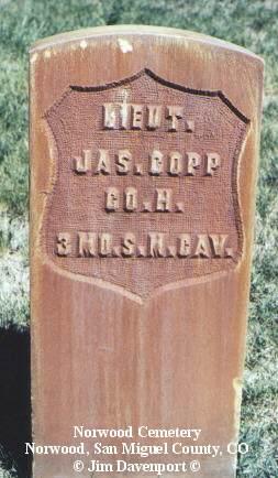 COPP, JAS. - San Miguel County, Colorado | JAS. COPP - Colorado Gravestone Photos