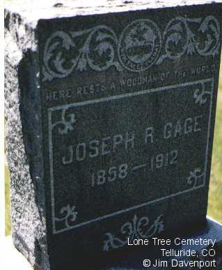 GAGE, JOSEPH R. - San Miguel County, Colorado | JOSEPH R. GAGE - Colorado Gravestone Photos