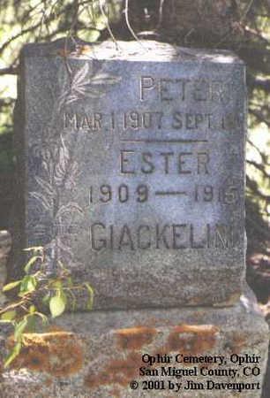 GIACKELINI, PETER - San Miguel County, Colorado | PETER GIACKELINI - Colorado Gravestone Photos