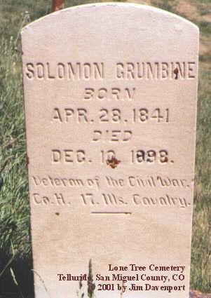 GRUMBINE, SOLOMON - San Miguel County, Colorado | SOLOMON GRUMBINE - Colorado Gravestone Photos