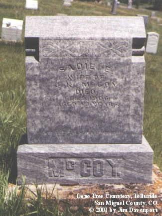 MCCOY, SADIE E. - San Miguel County, Colorado | SADIE E. MCCOY - Colorado Gravestone Photos
