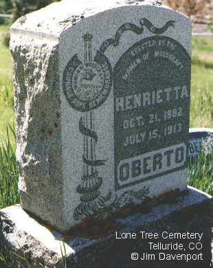 OBERTO, HENRIETTA - San Miguel County, Colorado | HENRIETTA OBERTO - Colorado Gravestone Photos