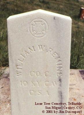 REMINE, WILLIAM W. - San Miguel County, Colorado | WILLIAM W. REMINE - Colorado Gravestone Photos