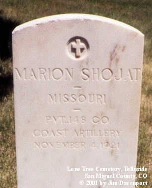 SHOJAT, MARION - San Miguel County, Colorado | MARION SHOJAT - Colorado Gravestone Photos