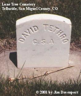 TETHRO, DAVID - San Miguel County, Colorado   DAVID TETHRO - Colorado Gravestone Photos