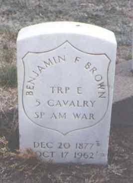 BROWN, BENJAMIN F. - Sedgwick County, Colorado   BENJAMIN F. BROWN - Colorado Gravestone Photos