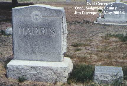 HARRIS, CHESTER M. - Sedgwick County, Colorado | CHESTER M. HARRIS - Colorado Gravestone Photos