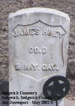 HUEY, JAMES - Sedgwick County, Colorado | JAMES HUEY - Colorado Gravestone Photos