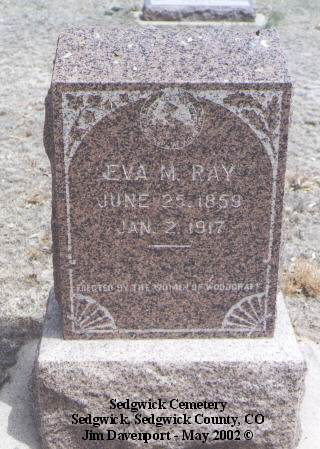 RAY, EVA M. - Sedgwick County, Colorado | EVA M. RAY - Colorado Gravestone Photos