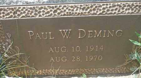 DEMING, PAUL W. - Summit County, Colorado | PAUL W. DEMING - Colorado Gravestone Photos