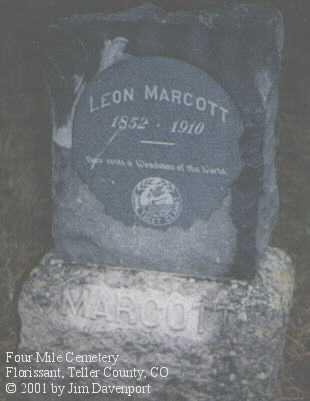 MARCOTT, LEON - Teller County, Colorado | LEON MARCOTT - Colorado Gravestone Photos