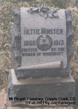 MINSTER, NETTIE - Teller County, Colorado   NETTIE MINSTER - Colorado Gravestone Photos