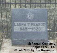 PEARCE, LAURA T. - Teller County, Colorado | LAURA T. PEARCE - Colorado Gravestone Photos