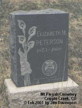 PETERSON, ELIZABETH M. - Teller County, Colorado | ELIZABETH M. PETERSON - Colorado Gravestone Photos