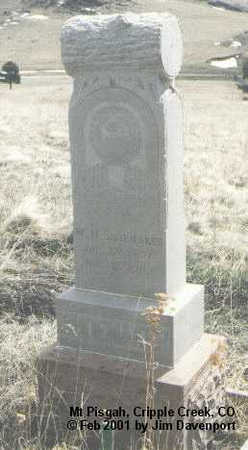 SHOEMAKER, W. M. - Teller County, Colorado | W. M. SHOEMAKER - Colorado Gravestone Photos