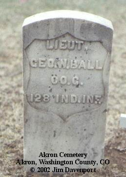 BALL, GEO. W. - Washington County, Colorado | GEO. W. BALL - Colorado Gravestone Photos