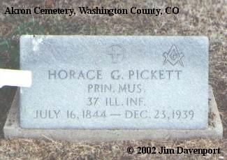 PICKETT, HORACE G. - Washington County, Colorado   HORACE G. PICKETT - Colorado Gravestone Photos