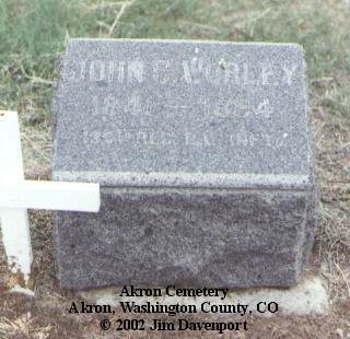 WORLEY, JOHN C. - Washington County, Colorado | JOHN C. WORLEY - Colorado Gravestone Photos