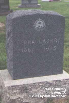 ASHBY, FLORA J. - Weld County, Colorado | FLORA J. ASHBY - Colorado Gravestone Photos