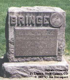 BRINGE, CATHERINE M. - Weld County, Colorado | CATHERINE M. BRINGE - Colorado Gravestone Photos