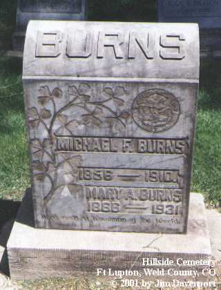 BURNS, MARY A. - Weld County, Colorado | MARY A. BURNS - Colorado Gravestone Photos