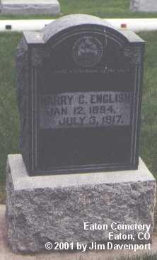ENGLISH, HARRY C. - Weld County, Colorado | HARRY C. ENGLISH - Colorado Gravestone Photos