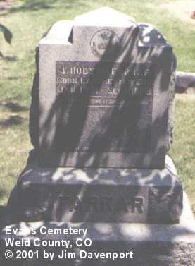 FARRAR, J. HUDSON - Weld County, Colorado | J. HUDSON FARRAR - Colorado Gravestone Photos